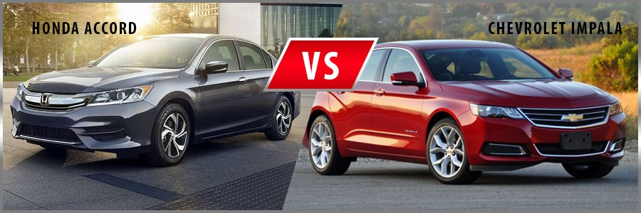 2016 Honda Accord vs. 2016 Chevrolet Impala