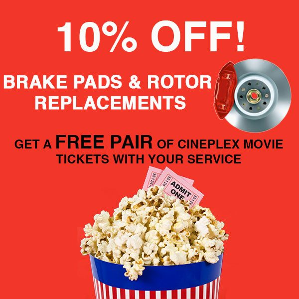 Brake Pads and Rotors Replacement – 10% OFF!