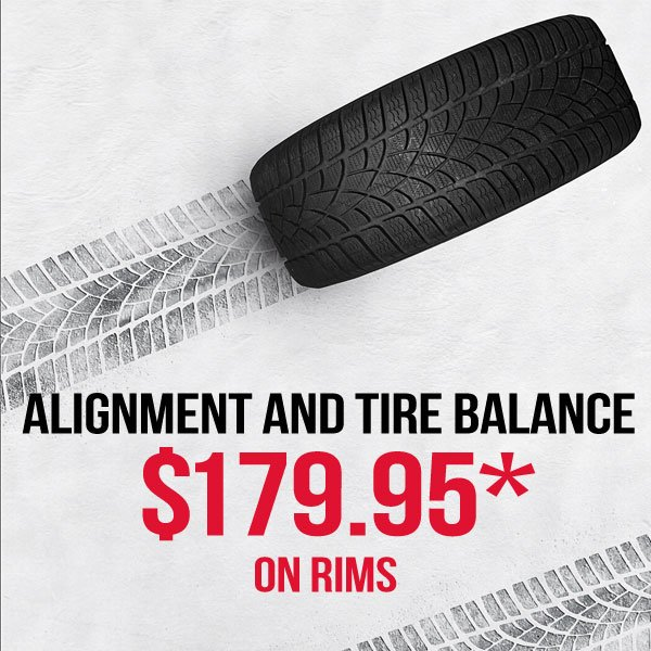 Alignment & Tire Balance Promo – No Charge Seasonal Tire Swap (on rims)